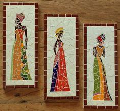 Resultado de imagen para celita alberti mosaicos Paper Mosaic, Mosaic Vase, Mosaic Wall Art, Mosaic Crafts, Mosaic Projects, Tile Art, Mosaic Tiles, Art Projects, Mosaic Flower Pots