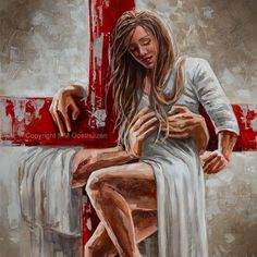 M19017 Redeeming Love Jesus Tattoo, Christian Images, Christian Art, Pictures With Meaning, Jesus Drawings, Redeeming Love, Dragon Silhouette, Jesus Painting, Jesus Christus