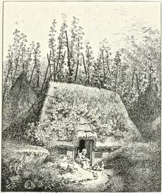 In the hop gardens, COBHAM, Surrey. John Thomas Smith's twenty etchings of extravagantly rustic cottages published as Remarks On Rural Scenery Of Various Features & Specific Beauties In Cottage Scenery in 1797
