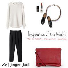 Inspiration of the Week with Jinger Jack KUALA LUMPUR in Red! #NiceThingsOnEarth #UniversalEleganceDESIGNEDinCapeTown #KualaLumpur #OOTD #JingerJack #Inspiration #CapeTown #FashionSA #Leather #Slingbag Shades Of Red, Kuala Lumpur, Leather Bag, Ootd, Bags, Inspiration, Women, Fashion, Moda