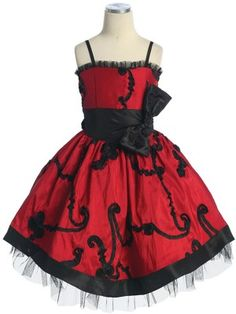 Red - Black Embroidery Flower Girl Dress - Flower Girl Dresses - GIRLS. For ZINA! So cute!!!