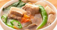 SINIGANG NA BABOY (PORK SINIGANG)             ~INGREDIENTS    2 lbs pork belly (or buto-buto)   1 bunch spinach (or kang-kong)...