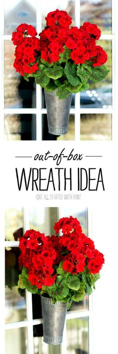 Easy DIY summer wreath out of the box idea