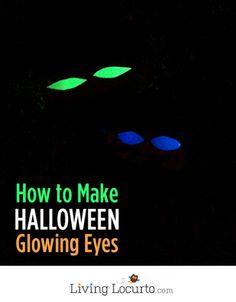 How to Make Glowing Eyes - Easy Halloween Haunted Decor!