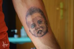 Blue Eyes Portrait Tattoo