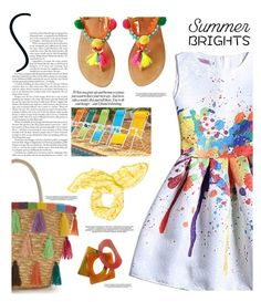 """""""Summer brights"""" by chalsouv ❤ liked on Polyvore featuring Improvements, Kate Spade, Yves Saint Laurent and summerbrights"""