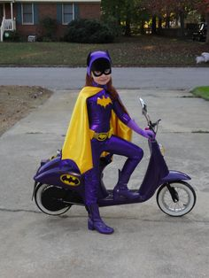 Batgirl with Bat Scooter