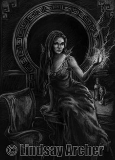 "This is a Character Illustration for the ""Serenity Role Playing Game"", published by Margaret Weis Productions. The RPG is derived from Joss Whedon's movie ""Serenity"", based on the TV Series ""Firefly"".  Drawn in colored pencil on black paper in 2006."
