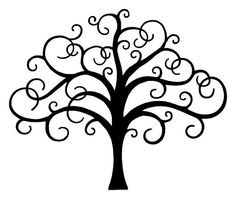 Check out this item in my Etsy shop https://www.etsy.com/listing/230374490/scroll-branches-tree-stencil