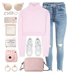 """""""Ten Twenty Four"""" by monmondefou ❤ liked on Polyvore featuring Balmain, Valentino, Jouer, Herbivore, Luv Aj, GUESS, Fuji, Fendi and Pink"""