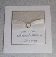 Paper Daisy Cards: Diamond wedding anniversary invitations