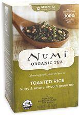 Great tea, especially if you are eating any kind of asian food. Numi Organic Tea, Organic Green Tea, Sencha Green Tea, Tea Packaging, Tea Gifts, Eating Organic, Flower Tea, Loose Leaf Tea, Rice