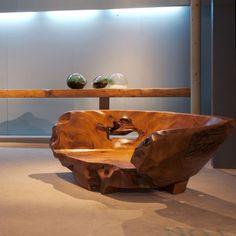 Hugo Franca Sticks Furniture, Metal Furniture, Rustic Furniture, Objet Deco Design, Wood Chairs, Tree Carving, Loveseats, Interior Designing, Wood Ideas