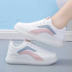 Women's #white pink casual shoe #sneaker stripe design Color Stripes, Stripes Design, Pink Color, Striped Shoes, Pink Shoes, Shoe Shop, Casual Shoes, Running Shoes, Pink Ladies