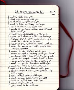 23 thing we could do, a list of activities for couples
