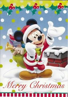 Merry Christmas to all my Disney friends and family! Disney Merry Christmas, Mickey Mouse Christmas, Merry Christmas And Happy New Year, Christmas Art, Mickey Mouse Art, Mickey Mouse And Friends, Mickey Minnie Mouse, Image Mickey, Christmas Scenes