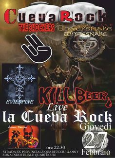THE FAT THURSDAY – CUEVA ROCK LIVE – QUARTUCCIU – THURSDAY FEBRUARY 27,2014