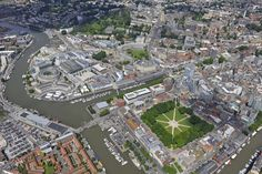 Stunning aerial photo over the city of Bristol #aerialphotography #Bristol #city #river