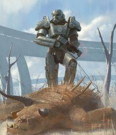 Fallout 4 - Brotherhood of Steel Fallout Art, Fallout 4 Funny, Fallout Concept Art, Fallout New Vegas, Fallout Posters, Fallout Tips, Fallout Brotherhood Of Steel, Cyberpunk, Paladin