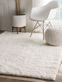 Add softness and warmth to any room with a shag rug from Rugs USA. Our wide selection of shag and Flokati rugs is unparalleled; find your shag rug today. White Shag Rug, White Area Rug, White Rugs, Contemporary Rugs, Modern Rugs, 4x6 Rugs, Shag Carpet, Buy Carpet, Plush Carpet