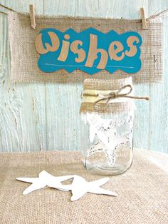 Starfish Wish Cards, Unique Guest Book Alternative, Wedding Reception Table Confetti Decor, Bridal Shower Baby Beach Party. $18.75, via Etsy.