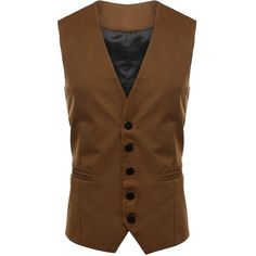 XWDA Men's Casual Slim Fit Skinny Dress Vest Waistcoat at Amazon Men's... (115 CNY) ❤ liked on Polyvore featuring men's fashion, men's clothing, men's outerwear, men's vests, mens slim vest, mens vest, mens waistcoats and mens vest outerwear