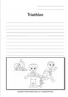 Triathlon Writing Page