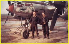 "P-38 "" KOZY KOZA"", piloted by Lt. Sam Plotecia"