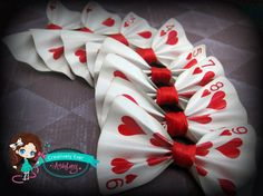 Custom real Playing Card hair bow clip or by CreativelyEverAshley, $6.00