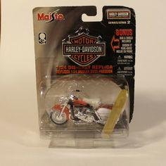 1968 Harley-Davidson FLH Electra Glide Orange/Black Maisto 1:24 Series 2