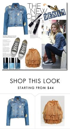 """Denim Street CHIC"" by mariyushka ❤ liked on Polyvore featuring Boohoo, Monki and Converse"