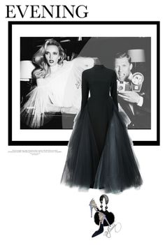 """.flashing lights."" by mercimasada ❤ liked on Polyvore featuring Christian Siriano, Chanel, gown, blackdress, celebration, tulle and eveninggown"