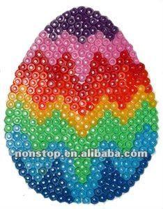 Perler Bead Pegboard Easter Egg Designs