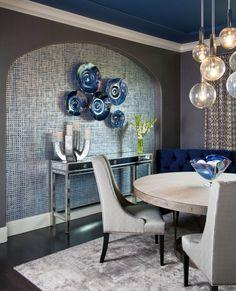 LOVE silver/steel grey & vibrant dark blue