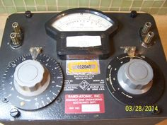 General Radio Co Audio Frequency Microvolter Type 546-C