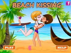 Beach Kissing - Kiss Game Online - Dressup24h Kissing Games, Games For Girls, Online Games, Beach, Kids, Fictional Characters, Young Children, Boys, The Beach