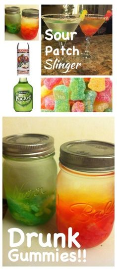 What goes better than popcorn and candy at the movies?!? How about popcorn and a candy inspired cocktail?! Ummmmm yes please! That's why we decided to create the Sour Patch Slinger for our movie night at home. Simply pour your favorite vodka flavor (we chose apple Stoli) into a jar, add sour patch kids (mixed or divided by color) and let sit over night. The gummies will infuse the vodka with that delicious sweet and sour flavor! Mix in some apple or watermelon pucker and serve! ...