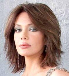 Stufenschnitt Mittellang Dünne Haare Frisuren Hair Styles Hair