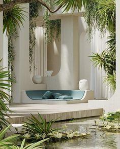 Organic Architecture, Futuristic Architecture, Interior Architecture, Biophilic Architecture, Layered Architecture, Dream Home Design, My Dream Home, Home Interior Design, Orangerie Extension