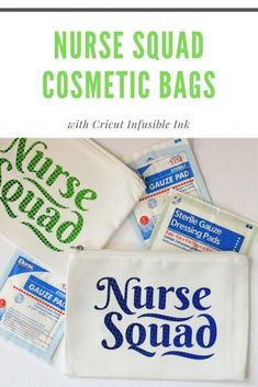 Celebrate your favorite essential worker nurse with these Nurse Squad Cosmetic Bags made with Cricut Infusible Ink! #cricutcreated Cricut Tutorials, Cricut Ideas, Ink Transfer, Iron On Vinyl, Diy House Projects, Do It Yourself Projects, Frugal Tips, Silhouette Projects, Kitchen Recipes