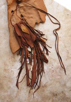 Handstitched Deerhide Medicine Bag with Natural by deserttalismans, $271.00