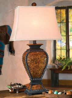 Beautiful western tooled lamp from Aspen Lighting. | Stylish Western Home Decorating