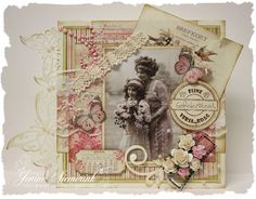 Jenine's Card Ideas: Pion Design - Vintage Spring: just beautiful Vintage Tags, Shabby Vintage, Vintage Style, Anniversary Crafts, Shabby Chic Cards, Doodles, Vintage Scrapbook, Beautiful Handmade Cards, Mothers Day Cards
