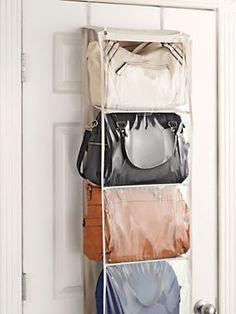 Captivating Over Door Purse Organizer   Back Of Door Storage For Handbags   How