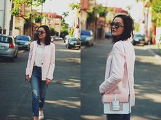 Andreea B. - The pink blazer outfit II