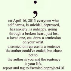 Semicolons are, and always have been, my favorite form of punctuation. They're a bit strange, and not everyone knows what to do with one.