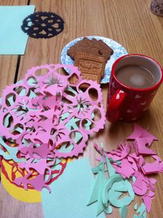 Papercutting workshop with tea and biscuits - www.inc-inc.co.uk/workshops
