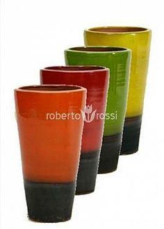 Round ceramic pot Rainbow Partner, multiple colors Ceramic Pots, Plant Growth, Good Mood, Rainbow, Ceramics, Colors, Tableware, Design, Rain Bow