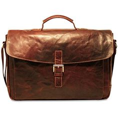 Jack Georges Voyager Collection Slim Flapover Brown