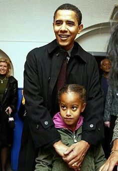 President Barack Obama and daughter Malia Obama